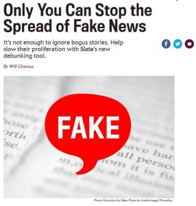 Stopping fake news